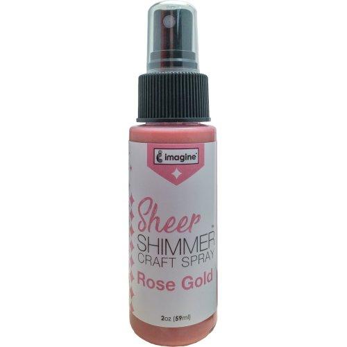 Imagine Sheer Shimmer Craft Spray 2oz-Rose Gold