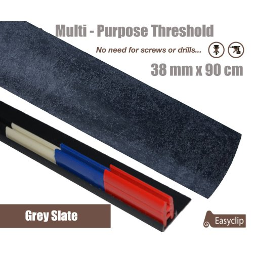 Grey Slate Multi Purpose Threshold Strip 38x90cm Adhesive Clip System