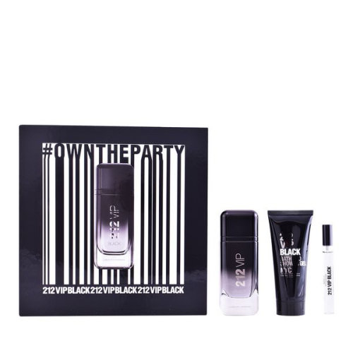 Men's Perfume Set 212 Vip Black Carolina Herrera (3 pcs)