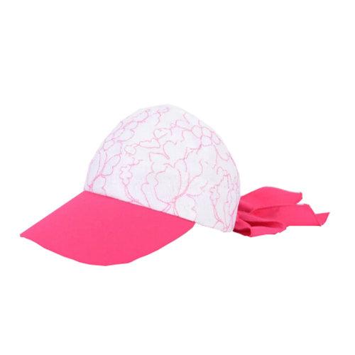 Girls' Beautiful Fashional Visor Sport Hat\Summer SunProof Lace Edge Hat(Red)