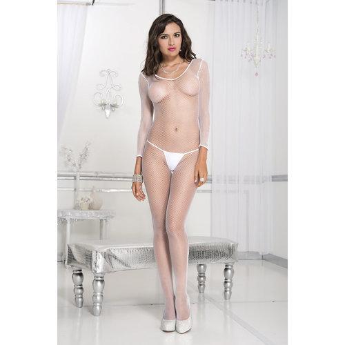 Music Legs Fishnet Catsuit - White  Ladies Lingerie Cat suits - Music Legs
