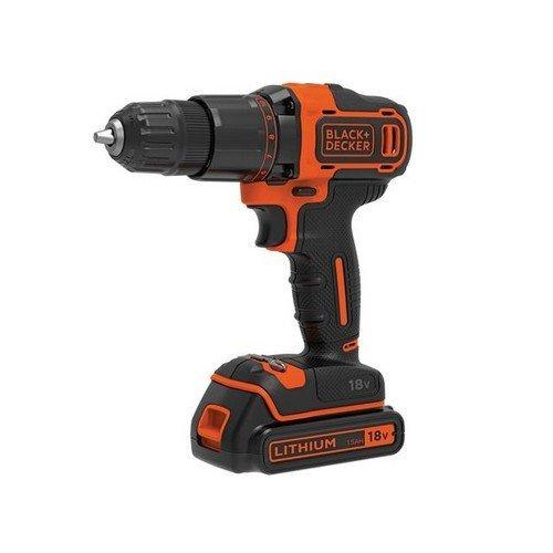 Black & Decker BCD700S1K-GB BCD700S1K 2 Gear Hammer Drill 18V 1 x 1.5Ah Li-ion