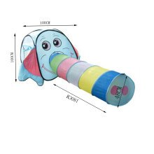 Cute Elephent Kids Indoor/Outdoor Play Tent with Tunnel(Under 3 Years Old)