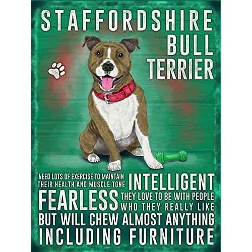 Staffordshire Bull Terrier Medium Wall Plaque 200mm x 150mm …