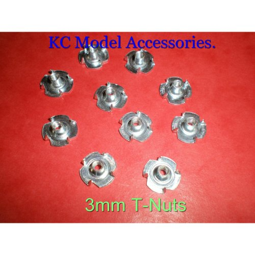 3mm Captive T Nuts / Blind Nuts x 10 pieces M3 Thread