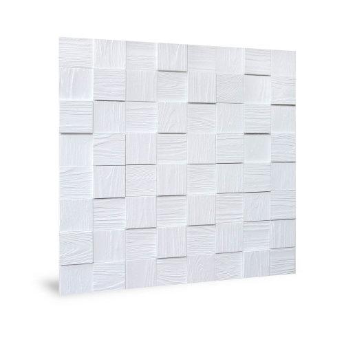 Profhome 3D 704498 Harmony Cubes Wood Grain White Decor panel 3D white 2,2m2