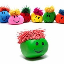 Funny Novelty Gift Creative Vent Human Face Ball Anti Stress Toy Soft Funny Bouncing Squeeze