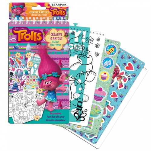 TROLLS Creative & Art Set Hours of Colouring and Sticker Fun