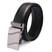 Automatic Buckle Black Leather Business Leisure Men's Belt