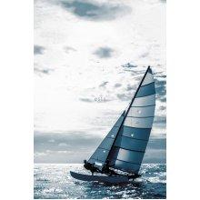 wall mural sailboat blue - 158846