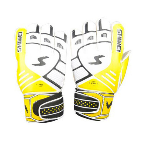 Cool Receiver Glove Latex Football Receiver Gloves for Adults, (White/yellow, M)