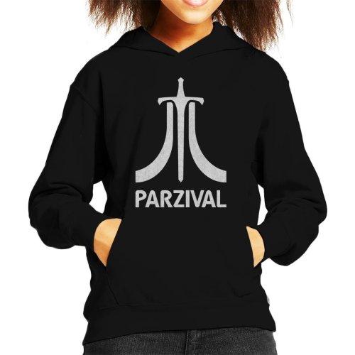 Parzival Atari Inspired White Text Kid's Hooded Sweatshirt