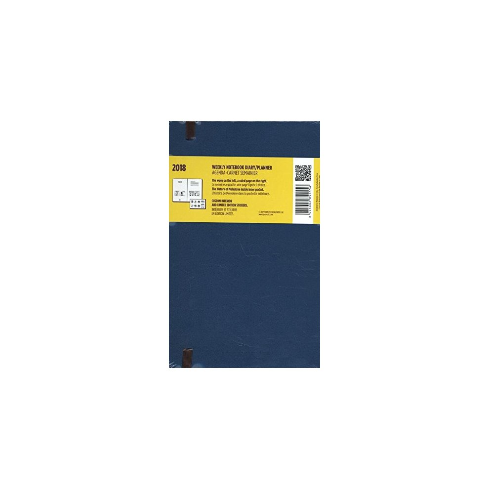 2018 Moleskine Peanuts Limited Edition Sapphire Blue Large Weekly Notebook Diary