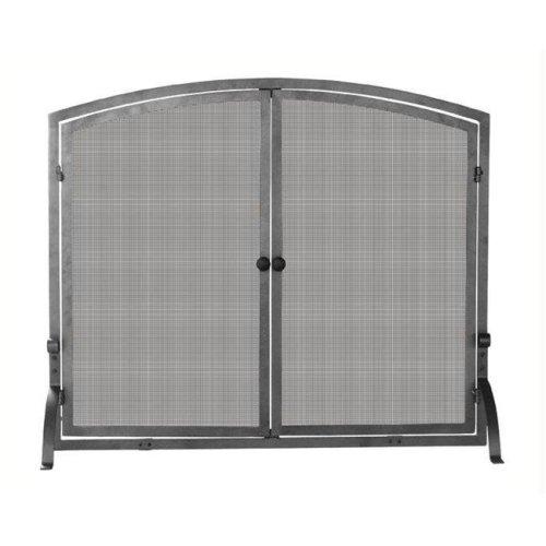 Single Panel Olde World Iron Screen with Doors Large