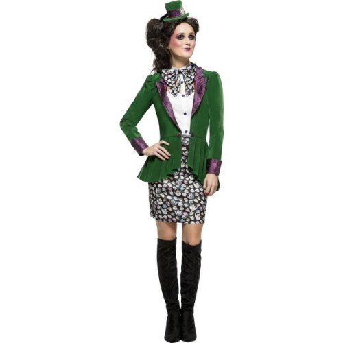 7d5f03bd0e6d86 Fever Women's Eccentric Hatter Costume, Skirt, Blouse, Jacket & Hat, Size:  - costume hatter eccentric fancy dress fever adult ladies mad womens on  OnBuy