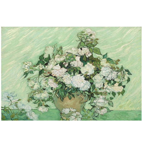 Fashionable Wooden Puzzle For Adult 1000 Piece Jigsaw Puzzle, White Rose