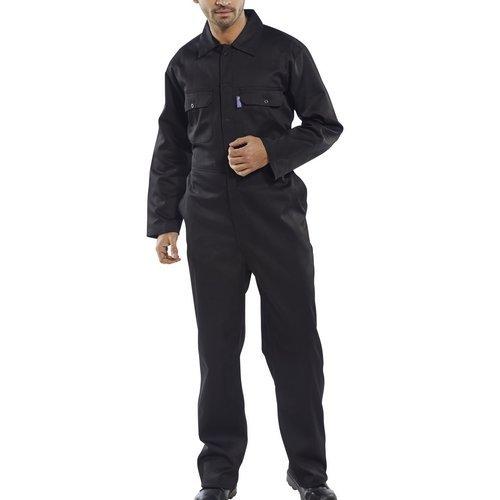 """Click RPCBSBL36 Polycotton Boiler Suit Black 36"""""""