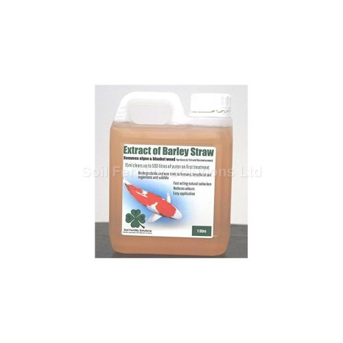 Extract of Barley Straw, removes algae & blanket weed, 5L treats up to 180,000Lts