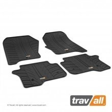 Travall Rubber Car Floor Mats [rhd] - Fiat Punto 3/5 Dr Hatch (2012-) 4p+f