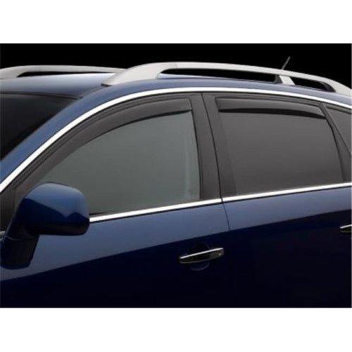 Weathertech W24-82697 Front & Rear Side Window Deflectors for 2004-2014 Ford F-150, Dark Smoke