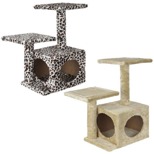 Medium Cat Kitten Tree Activity Centre Scratch Scratching Post Climbing Toy Bed