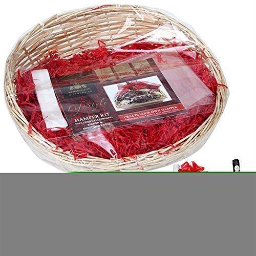 Make Your Own H&er Kit Basket Oval Basket Ribbon Cellophane Wood Wool 739004 - h&er basket make your own large christmas gift box cellophane bow on ...  sc 1 st  OnBuy & Make Your Own Hamper Kit Basket Oval Basket Ribbon Cellophane Wood ...