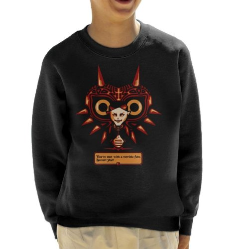 Terrible Fate Majoras Mask Legend Of Zelda Kid's Sweatshirt