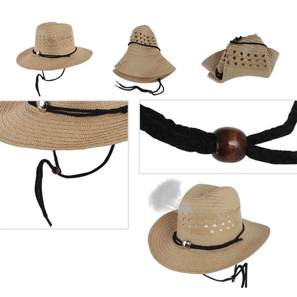 9ea9128493f ... Black Outdoors Beach Hat Sun Hat For Mens Fishing Hunting