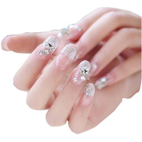 Beautiful Lady Art Nails Set 24 PCS Pre Designed Fake Nails