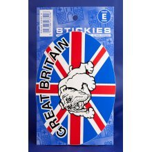 British Bulldog Oval Sticker - Novelty Uk Great Britain Union Jack Decal -  british bulldog oval sticker novelty uk great britain union jack decal