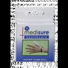Medium Medisure Leather Thumb Stall -  medisure soft leather thumb stall choose your size