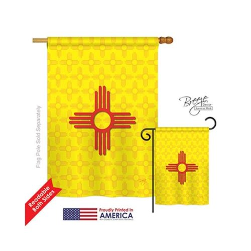 Breeze Decor 08073 States New Mexico 2-Sided Vertical Impression House Flag - 28 x 40 in.