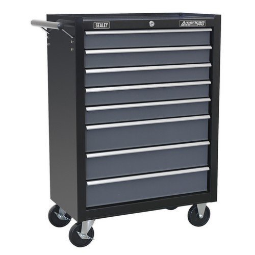 Sealey AP3508TB Rollcab 8 Drawer with Ball Bearing Slides - Black/Grey