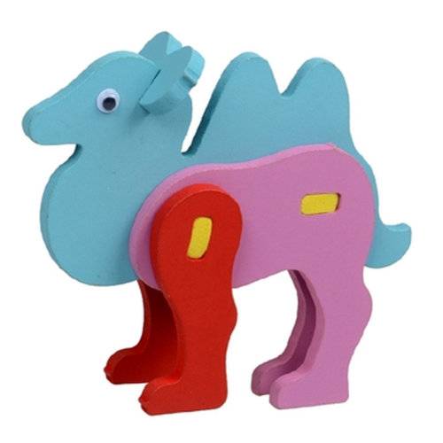 DIY Cartoon 3D Animal Wooden Puzzle Baby Early Childhood Toy ( Camel )
