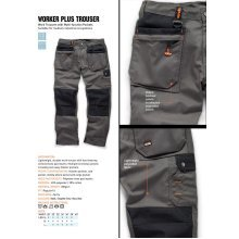 Scruffs WORKER PLUS TWIN PACK Mens Work Trousers