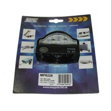 Lamp - 10-30v LED N/plate With Cable & Clip Base Dp - Number Plate Maypole -  lamp number plate cable clip base maypole led mp8228