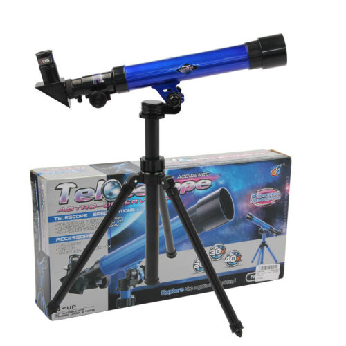 Powerful Plastic Astronomical Telescope Tripod Stargazing Educational Kids Toy