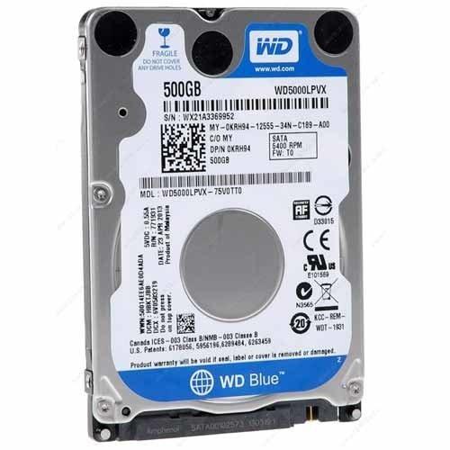500Gb WD Blue 5400rpm SATA3 2.5In Hard Drive