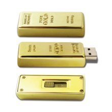 16GB Gold Bar Memory Stick Novelty USB Flash Drive