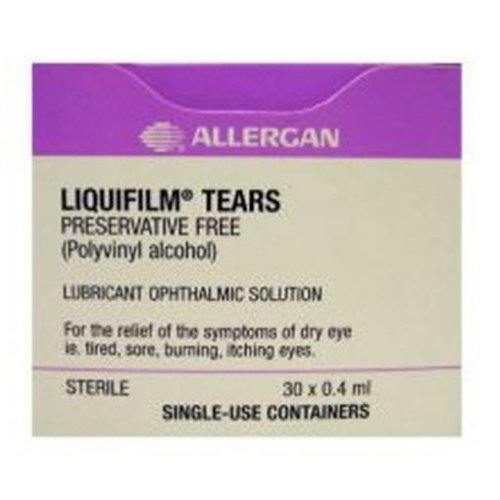 Allergan Liquifilm Tears Eye Drops Vials 30 x 0.4ml