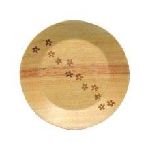 Wooden Dinnerware Fruit/ Meat/ Dessert Plates Round Shape Dishes 15 CM-A3