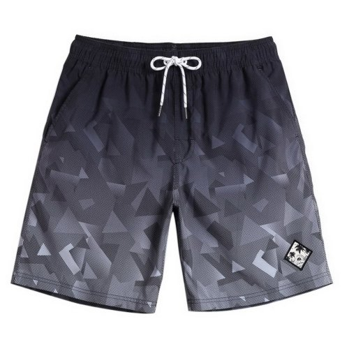 Men's Sports Casual Beach Loose Fashion Shorts, Gray Gradient