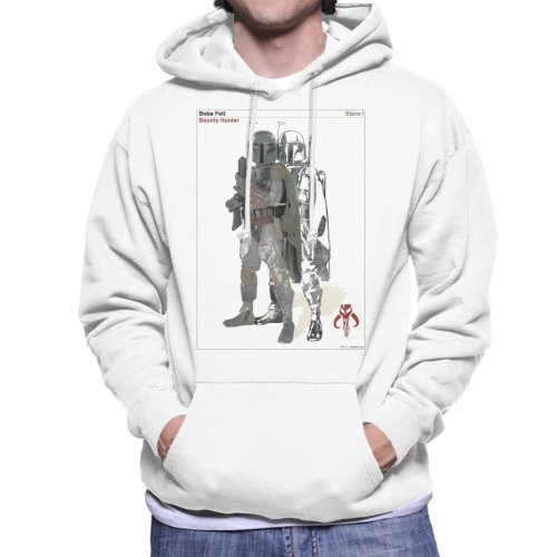 Star Wars Boba Fett Bounty Hunter Slave I Men's Hooded Sweatshirt