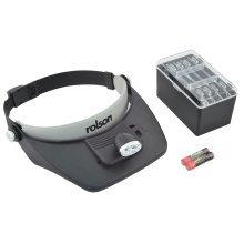 2 LED Head Loupe Magnifier Visor - Rolson 60390 1 Pixnor Tweezers 7piece -  rolson 60390 led head loupe magnifier visor 1 pixnor tweezers 7piece