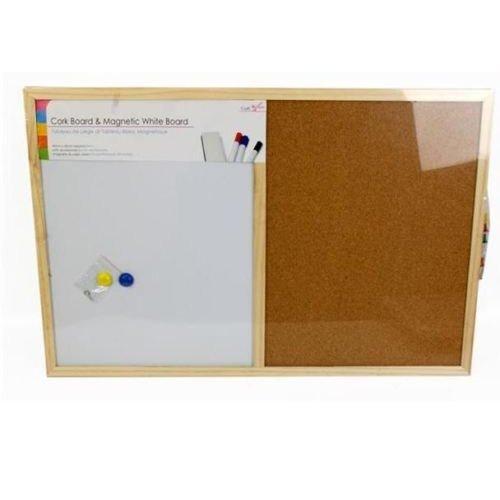 Cork Memo Pin & White Magnetic Message Board Home Office Memoboard